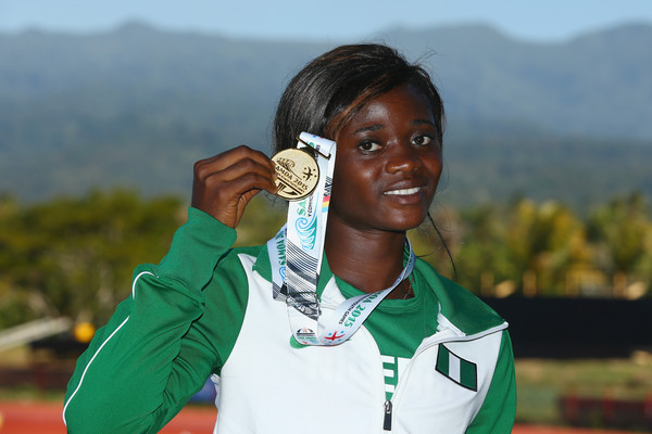 Abolaji won her first individual GOLD for Nigeria. (Photo Credit: Mark Kolbe/Getty Images)