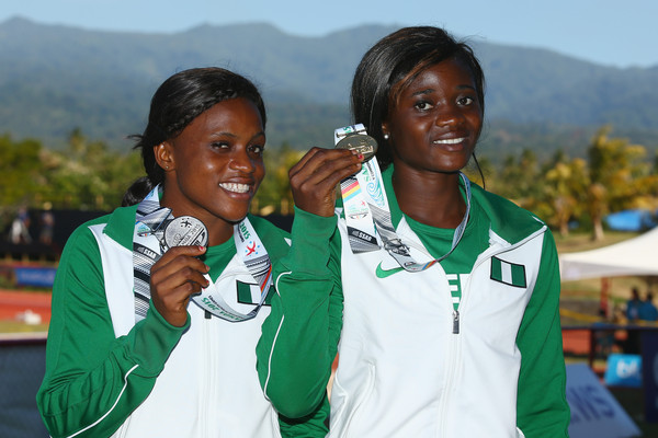Omotayo Abolaji (R) and Aniekeme Alphosus did Nigeria proud in the 100m. (Photo Credit: Mark Kolbe/Getty Images)