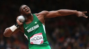 Stephen Mozia in action for Nigeria. Photo Credit: Getty Images