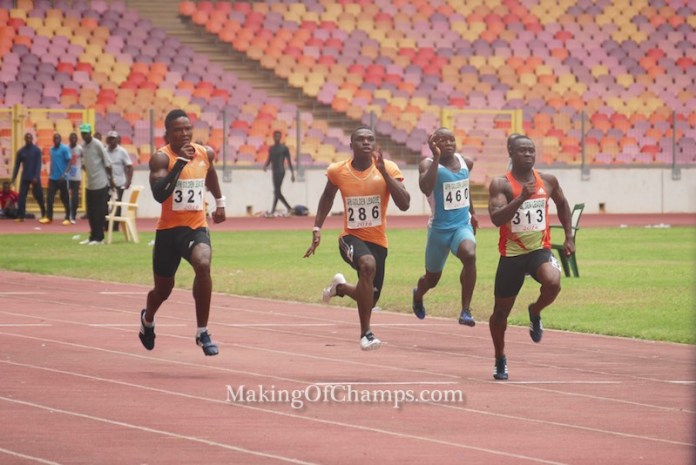 The men's 100m final was an explosive race, with Egwero taking the victory in 10.24s.