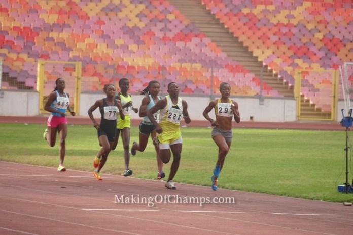 Philomena Ikehandu led the women's 800m race.