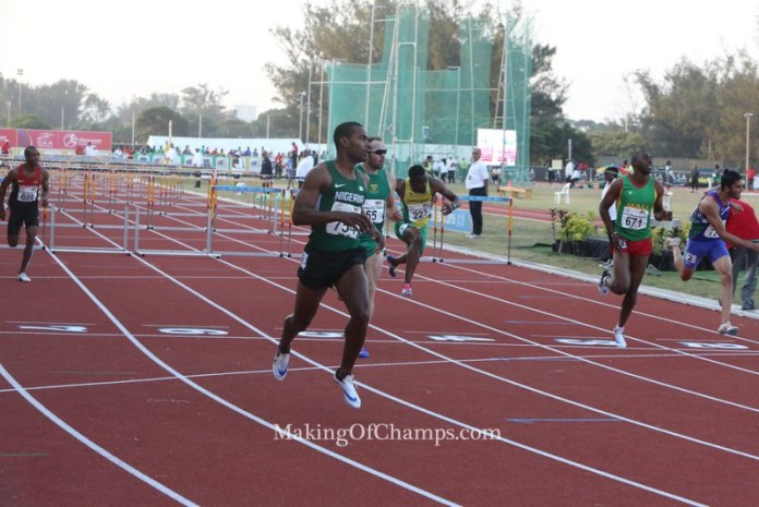 Tyrone will be hoping he could retain his 110mH title.