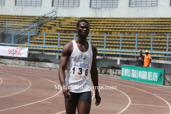 Defending Champion Tega Odele finished 5th in the 200m final.