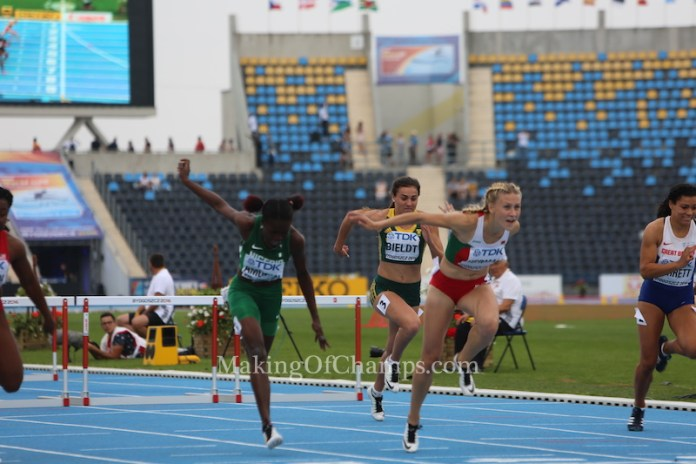 Herman upstaged the big names to win the 100m Hurdles final in Poland. Photo Credit: Making of Champions / PaV Media Ltd