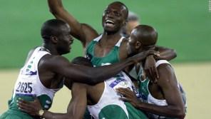 Nigeria's men's relay teams will not be in Rio