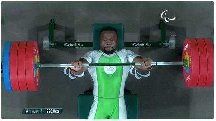 Paul Kehinde also put a World Record feat in men's -65kg Powerlifting to win Nigeria's second GOLD of the Rio 2016 Paralympics