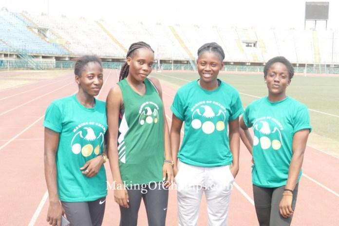 The quartet of Muoghalu, Johnson, Badejo and Udo-Gabriel won the women's 4x200m