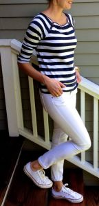 nautical look with sneakers