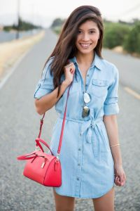 Light chambray shirtdress