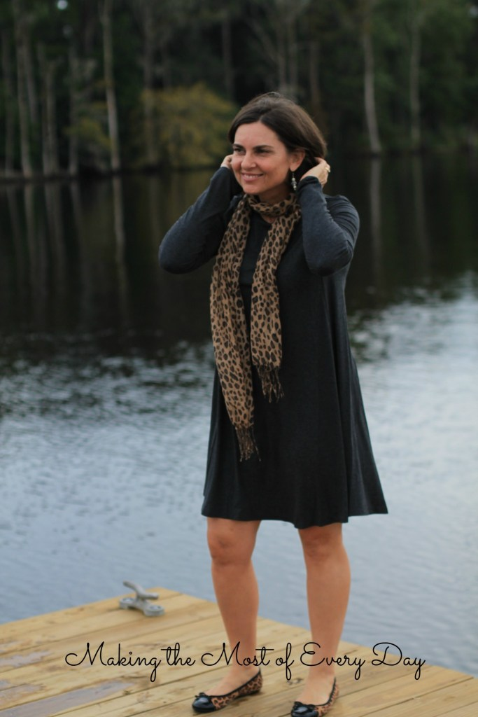 leopard scarf marked