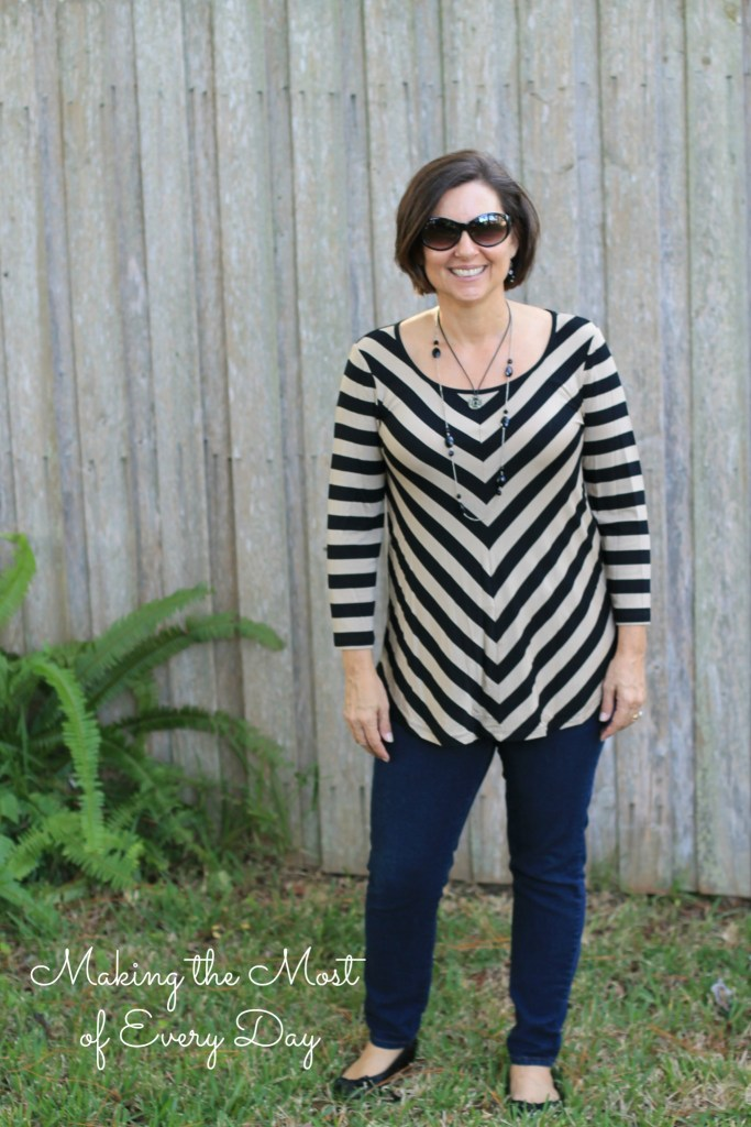 chevron tunic marked