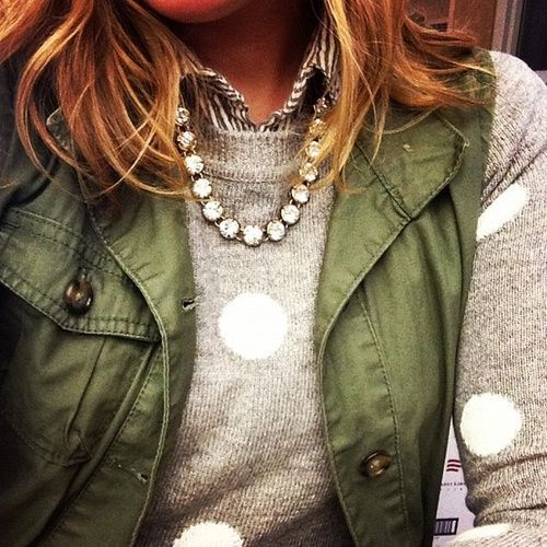 polka dot sweater and vest
