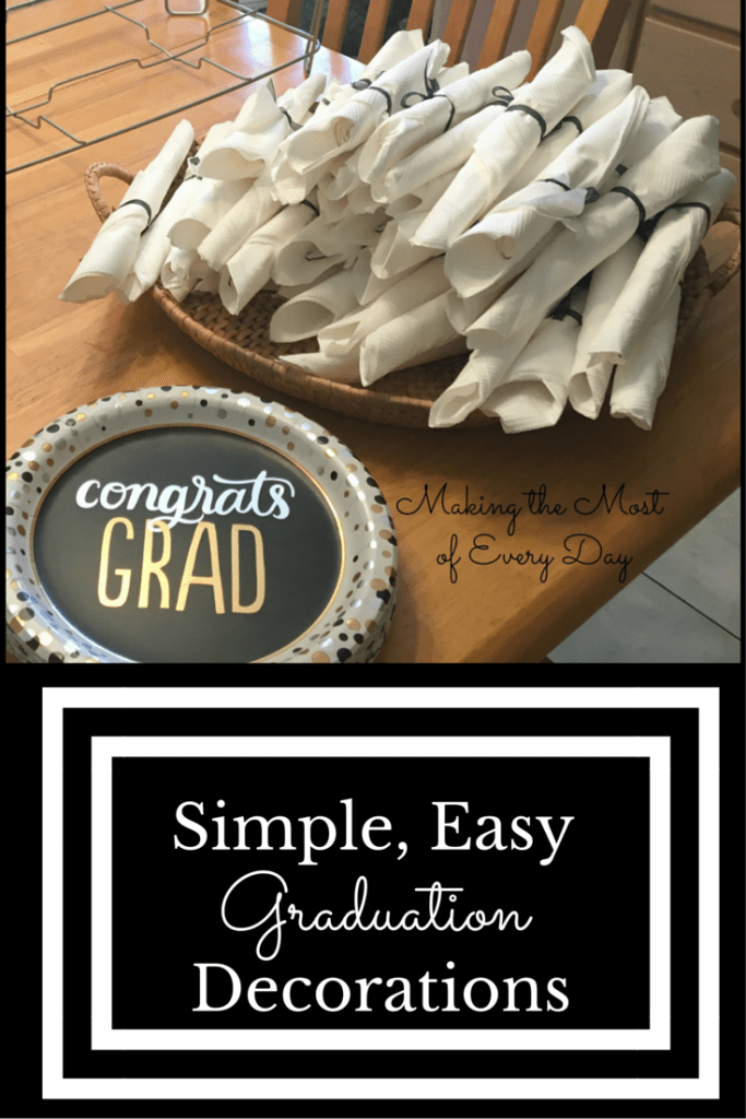 Simple, Easy Graduation Decorations graphic
