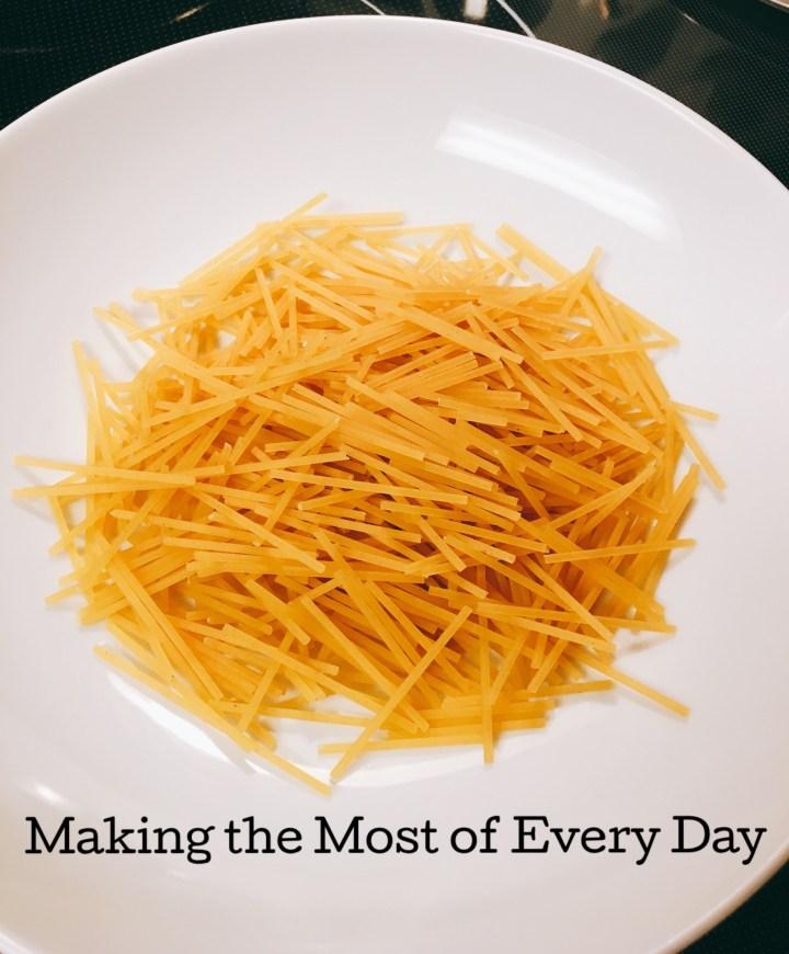 Pasta e Fagioli (pasta and beans) is a classic Italian dish!
