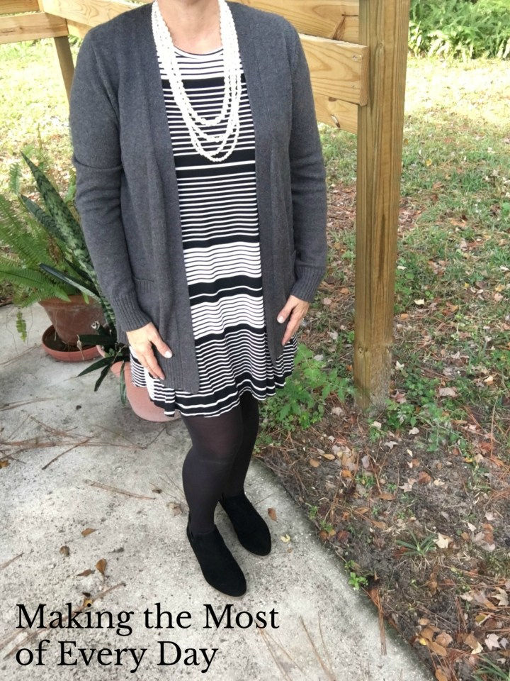 Transiitioning a summer dress to fall