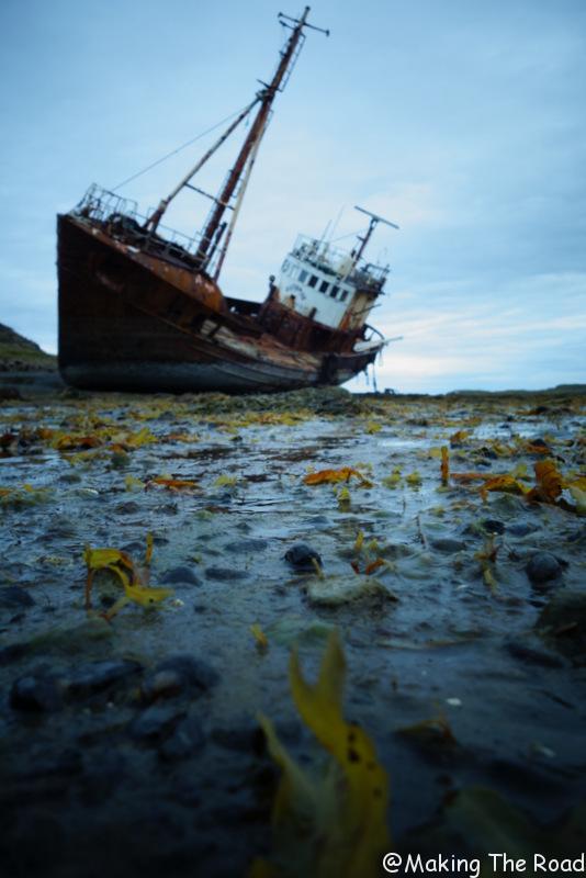 Snæfellsnesvegur bateau échoué islande nord