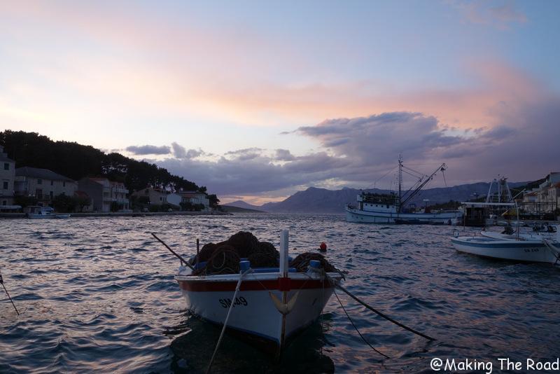 visite Croatie - acces Ile de brac - povjla blog voyage