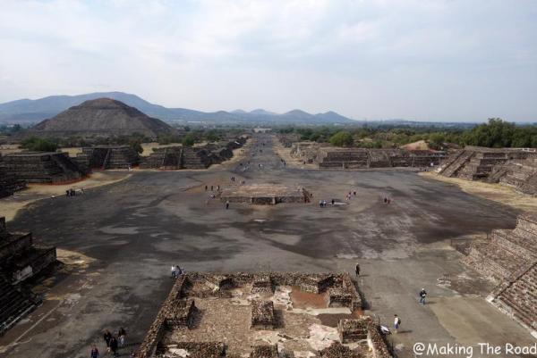 correspondance aeroport mexico pyramides soleil allée de los muertos visiter Teotihuacan bus métro taxi transit mexique blog voyage