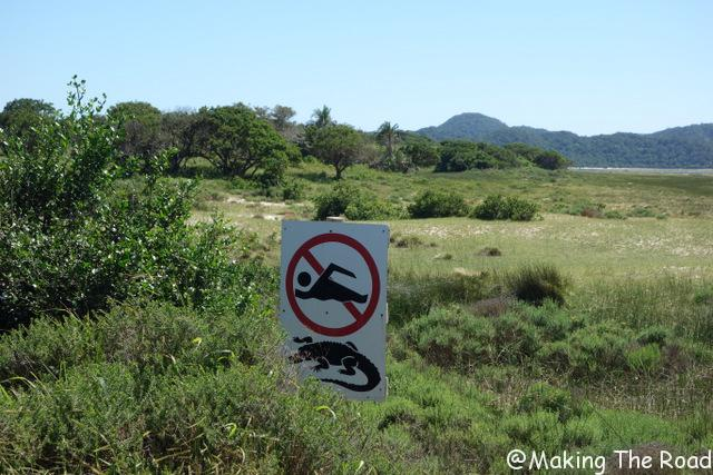 isimangaliso parc afrique du sud st lucia crocodile