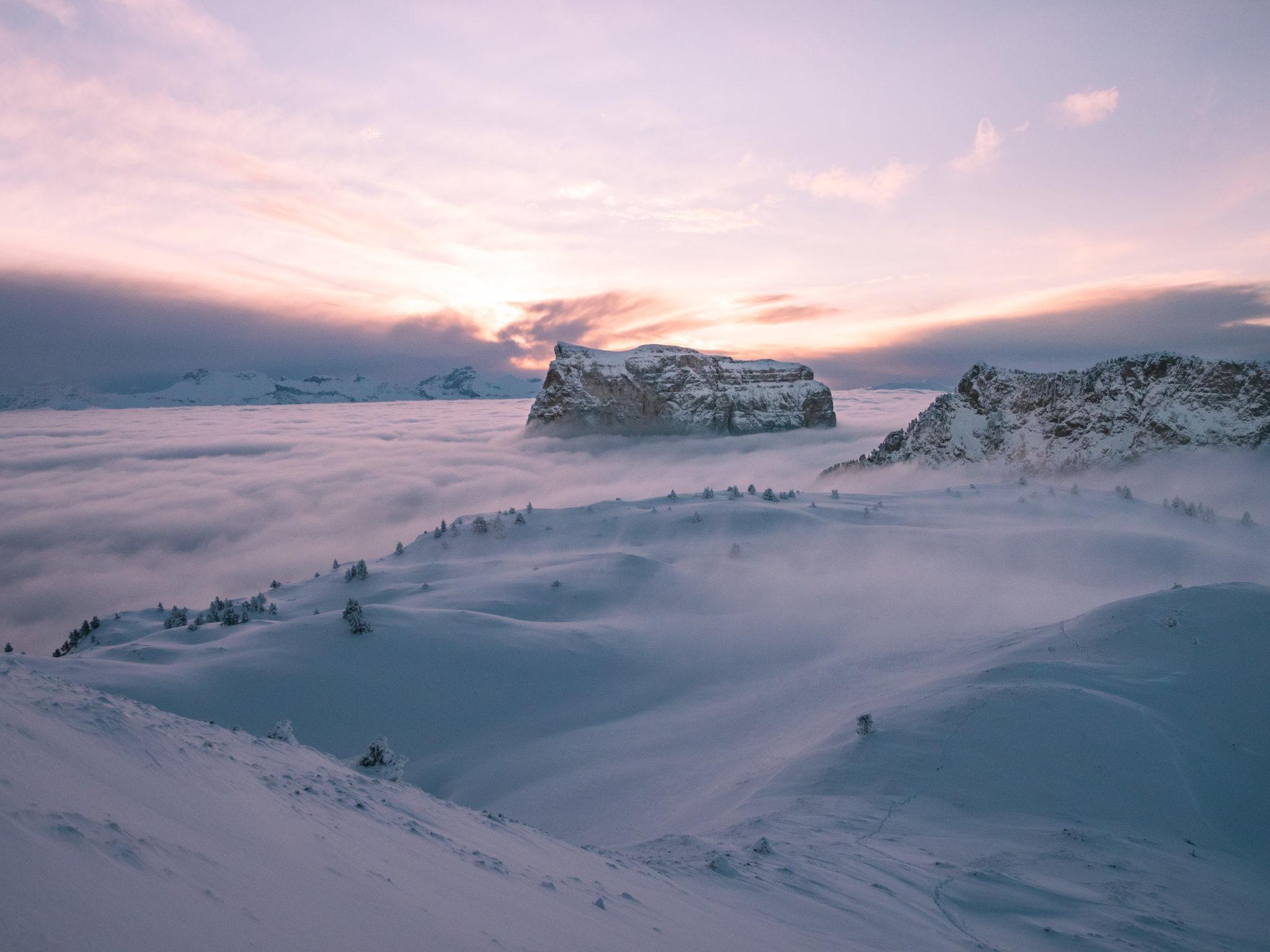 France – 9 Randonnées dans les Alpes en Hiver en raquette