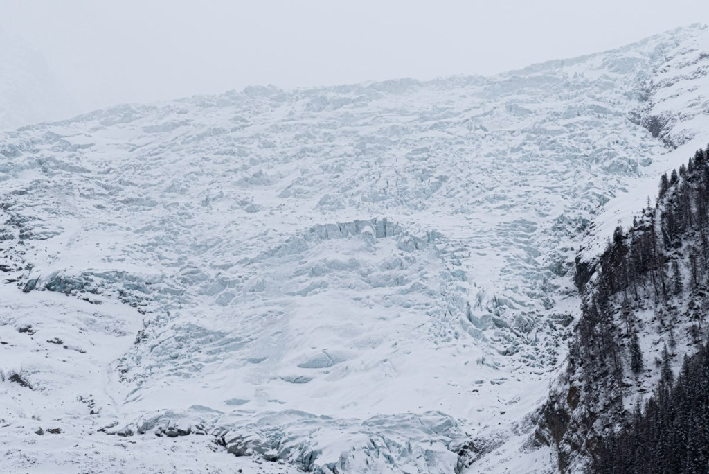 randonnée raquette Chamonix glacier