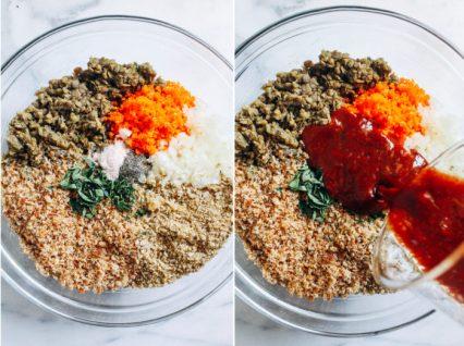 Recipe for delicious lentil burgers