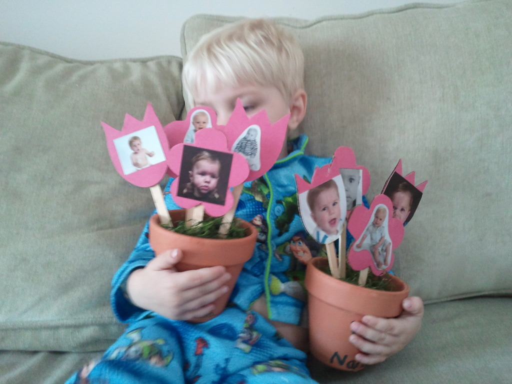 Mothers Day Craft Tutorial Picture Flowers Making Time