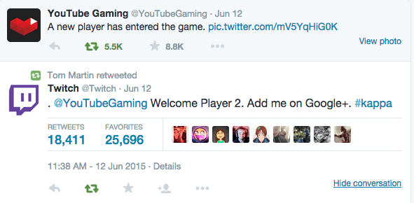 Twitch on YouTube Gaming