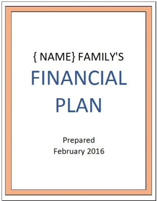 Making Your Money Matter - Cover for Personal Financial Plan