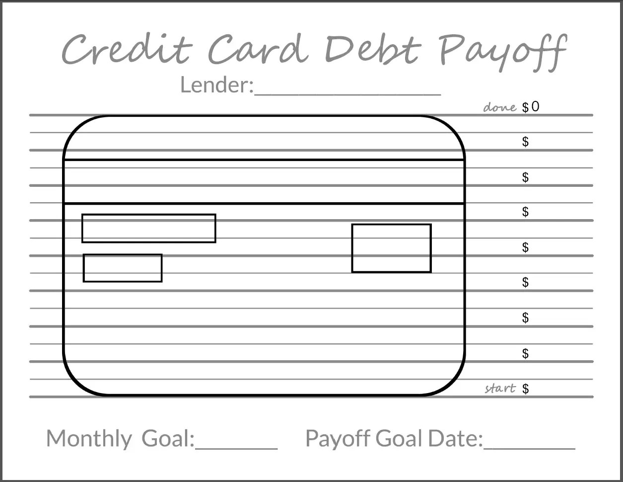 photo about Free Printable Debt Free Charts known as Monitoring Your Credit card debt Objectives