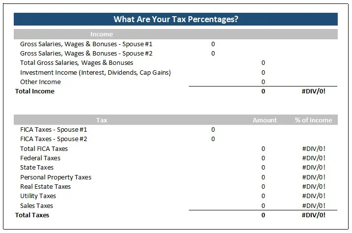 This spreadsheet calculates your tax percentages-so interesting! I tried it and was surprised by the results!