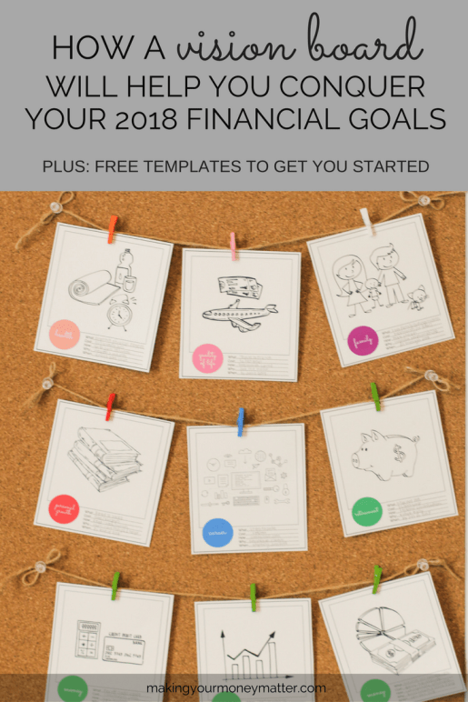How a Vision Board Will Help You Conquer Your 2018 Goals + Templates!