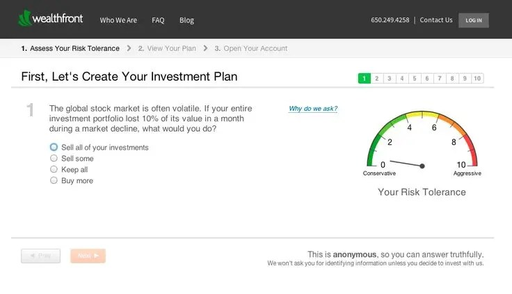 Wealthfront Create an Investment Plan