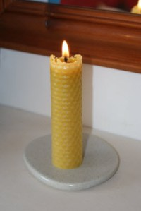 Making Beeswax candles for kids