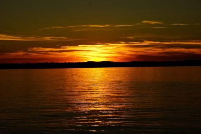 Sun Set over Lake Simcoe