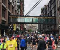 IMG: Under Armour East Side 10K - 2019.  Picture of the runners coral.