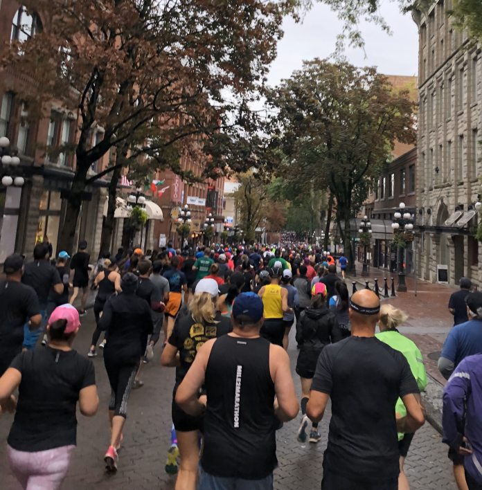 IMG: Running the UA Eastside 10K through Gastown, Vancouver - Sept 2019.