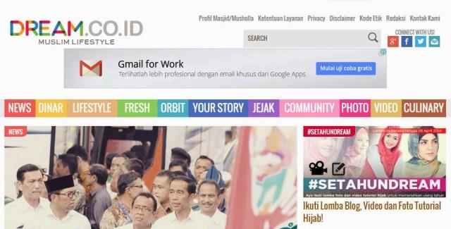 Dream.co.id : Situs Berita Muslim Populer, Kini Genap Setahun