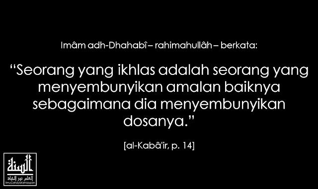 Riya', Sifat yang Menghapus Pahala