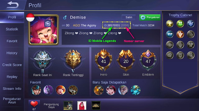 ID & Server Mobile Legends