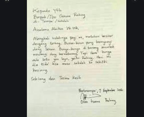 contoh surat izin tulisan tangan