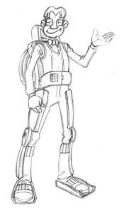 Steven et son exosquelette par Samuel Ménétrier