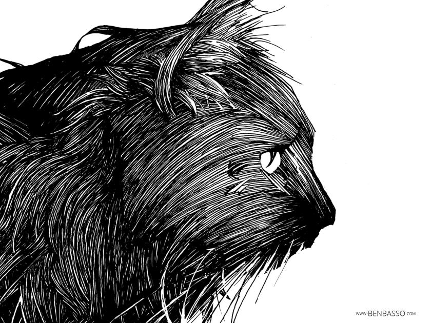 Tête de chat tirée de l'artbook de Ben Basso.