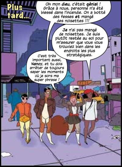 Extrait des aventures d'Écureuillette avec Howard le Canard. VF signée Caroline Vieira, traductrice de comics.