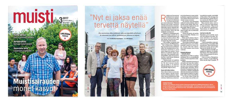 Muistiliitto ry, Muisti-lehti 3/2017