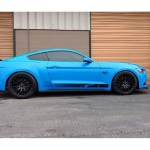 For 2015 2017 Ford Mustang Front Rear Performance Lowering Springs Blue Kit