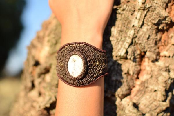 Gemstone hippie bracelet