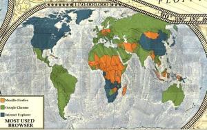 23 Dünya İnternet Haritası 1.0