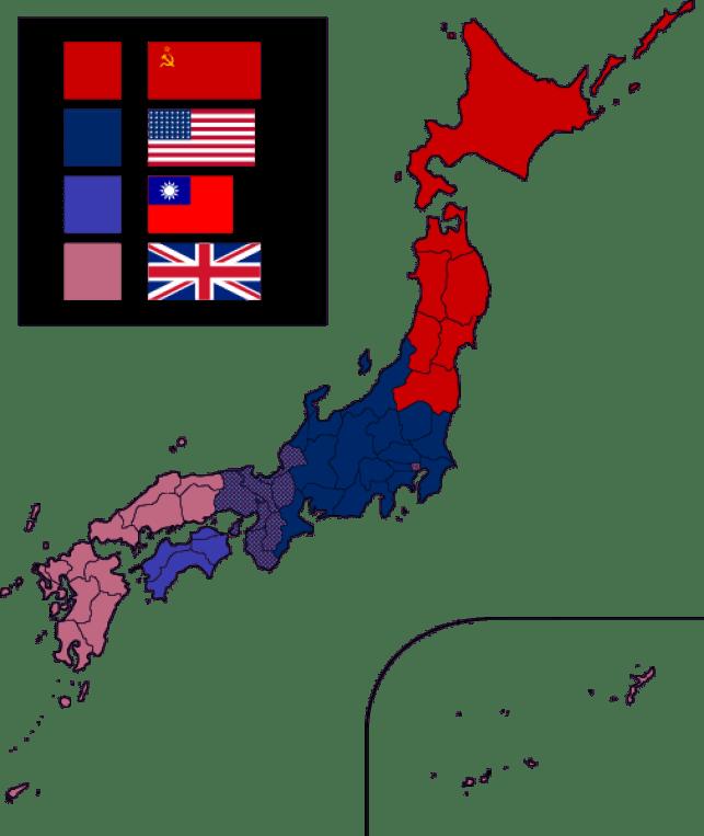2. Dünya Savaşı sonrası Japonyanın işgal güçleri tarafından yönetim planı