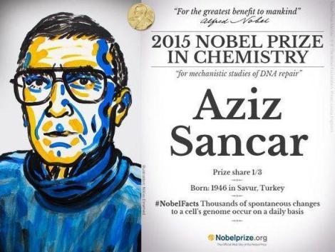 aziz_sancar_2015_nobel_kimya_odulu_sahibi_ 2015 Nobel Kimya Ödülünü Kazanan, Aziz Sancar ve Çalışmaları